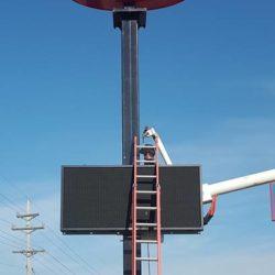 Repairing a digital display sign