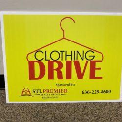 clothing drive yard sign